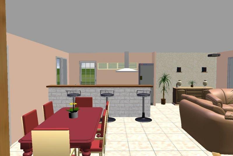 Construction de notre maison la vue interieure en 3d for Salle a manger 3d gratuit